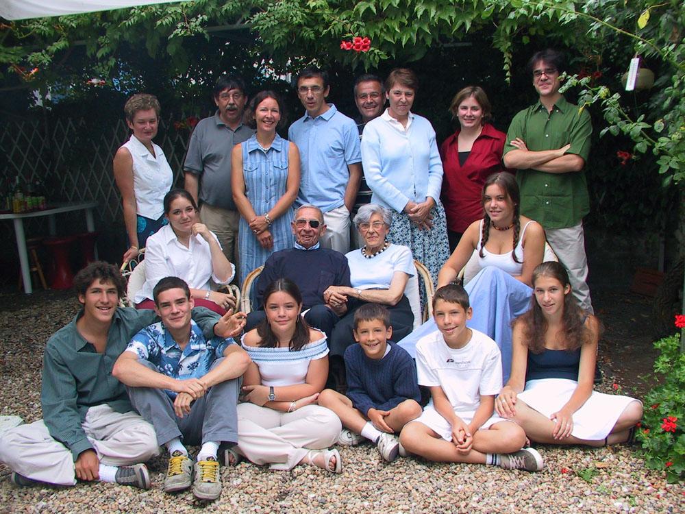 La dernière réunion de famille complète, à Saint-Georges en 2002